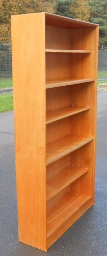 Tall Open Teak Bookcase by Herbert E Gibbs